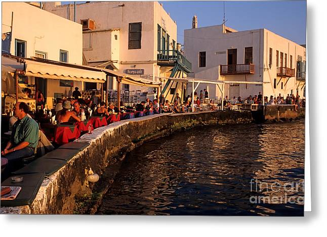 Aegean Greeting Cards - Little Venice during sunset Greeting Card by George Atsametakis