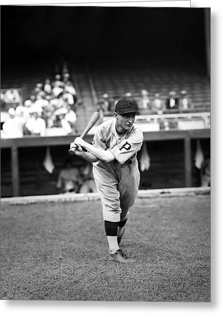 Dugout Greeting Cards - Lloyd J. Waner Greeting Card by Retro Images Archive