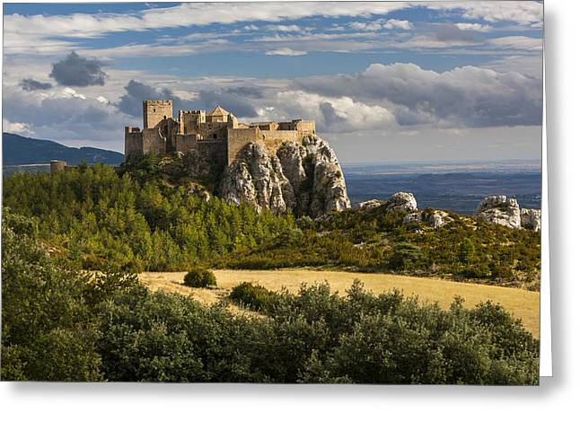 1400s Greeting Cards - Loarre Castle Greeting Card by Sebastian Wasek