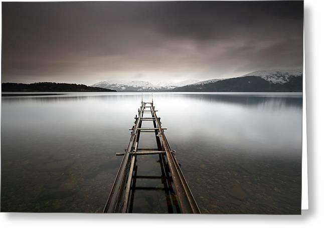 Minimalist Landscape Greeting Cards - Loch Lomond Greeting Card by Grant Glendinning