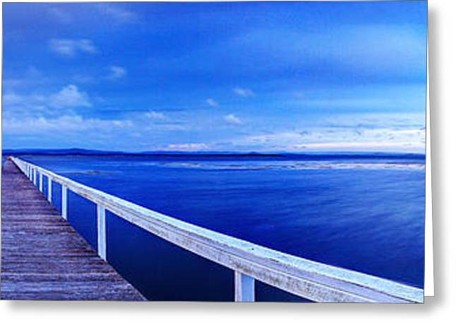 Vale Greeting Cards - Long Jetty Greeting Card by Gene Yu