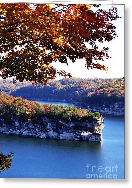 Nicholas Greeting Cards - Long Point Summersville Lake Greeting Card by Thomas R Fletcher