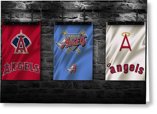 Presents Greeting Cards - Los Angeles Angels Greeting Card by Joe Hamilton