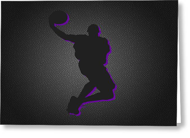 Los Angeles Lakers Greeting Card by Joe Hamilton