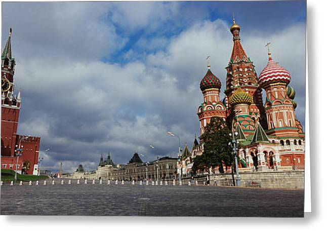 Commonwealth Of Independent States Greeting Cards - Low Angle View Of A Cathedral, St Greeting Card by Panoramic Images