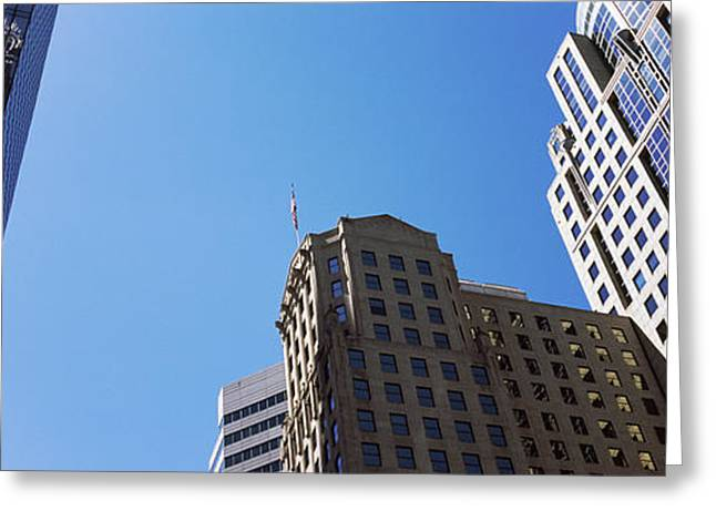 Mecklenburg County Greeting Cards - Low Angle View Of Skyscrapers Greeting Card by Panoramic Images