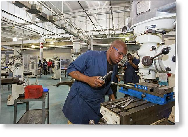Machinist Job Training Greeting Card by Jim West