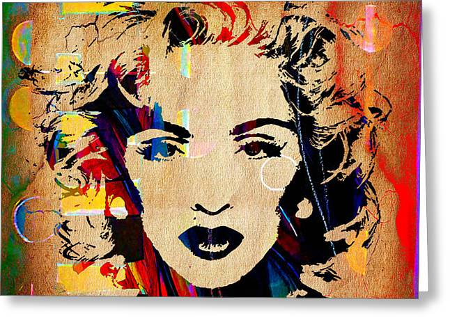 Pop Greeting Cards - Madonna Collection Greeting Card by Marvin Blaine