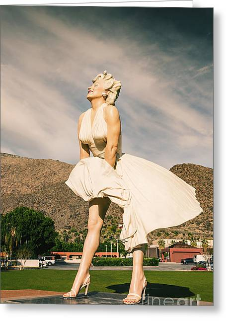 Grate Greeting Cards - Gorgeous Marilyn Monroe Greeting Card by Nasser Studios