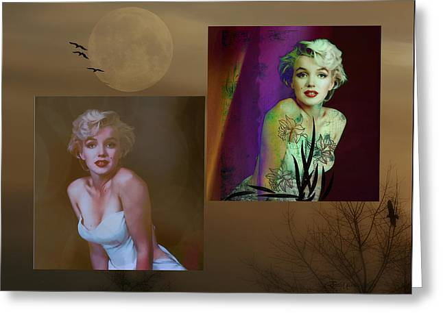 Norma Jean Mixed Media Greeting Cards - Marilyn Monroe Greeting Card by EricaMaxine  Price