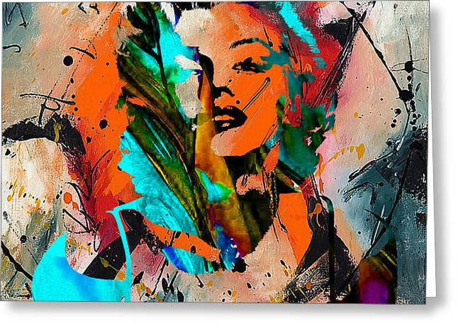 Marilyn Greeting Cards - Marilyn Monroe Painting Greeting Card by Marvin Blaine