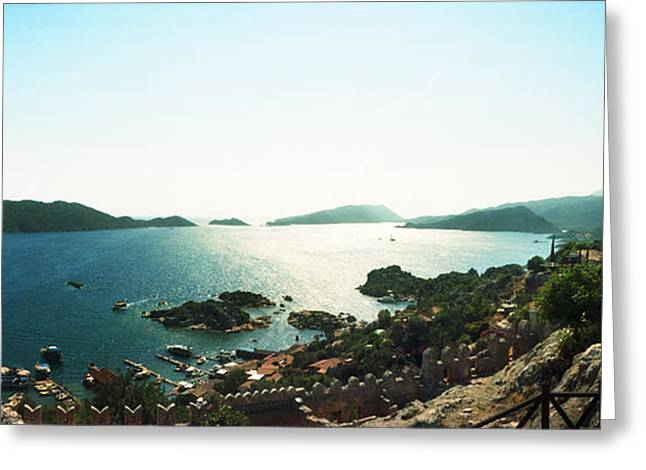 Byzantine Greeting Cards - Mediterranean Sea Viewed Greeting Card by Panoramic Images