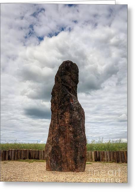 Oracular Greeting Cards - menhir Stone Shepherd Greeting Card by Michal Boubin