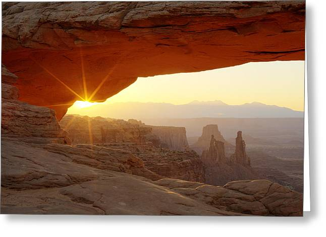 Most Greeting Cards - Mesa Arch Greeting Card by Tom Cuccio
