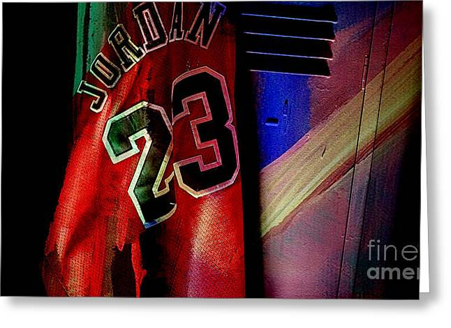 Michael Jordan Greeting Cards - Michael Jordon Greeting Card by Marvin Blaine