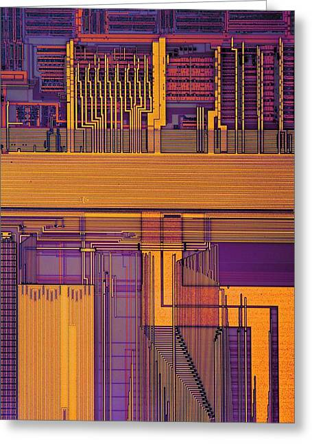 Microprocessor Components Greeting Card by Antonio Romero