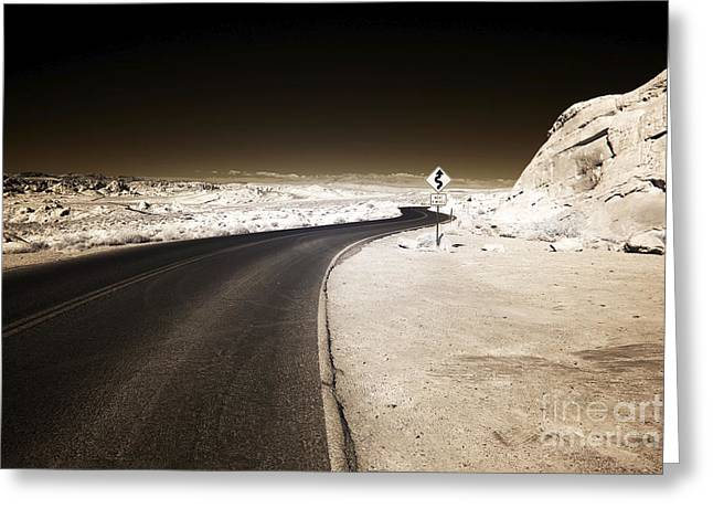 Mile Road Greeting Cards - 4 Miles Greeting Card by John Rizzuto