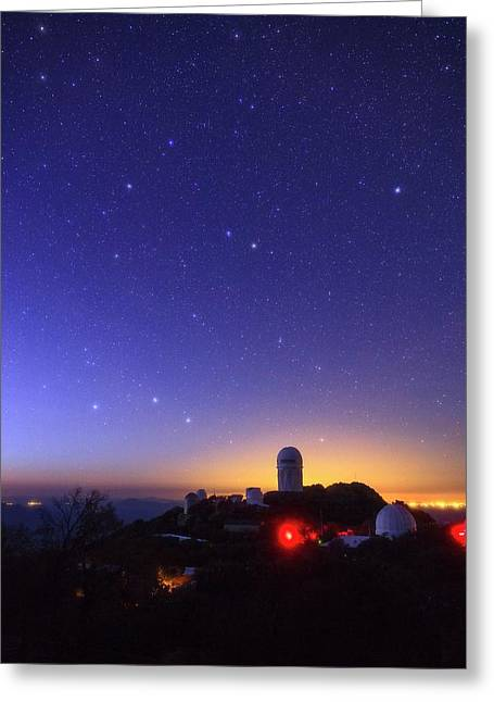Milky Way Over Kitt Peak Observatory Greeting Card by Babak Tafreshi