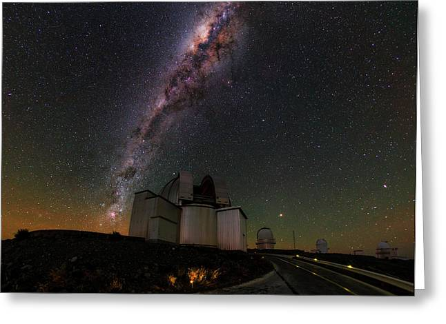 Milky Way Over La Silla Observatory Greeting Card by Babak Tafreshi