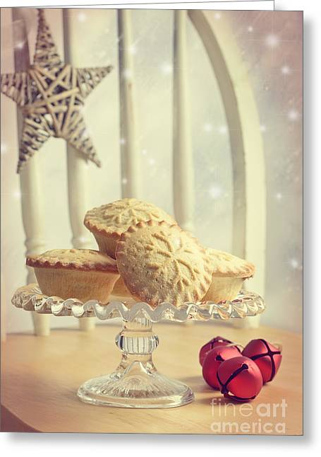 Cake Stand Greeting Cards - Mince Pies Greeting Card by Amanda And Christopher Elwell
