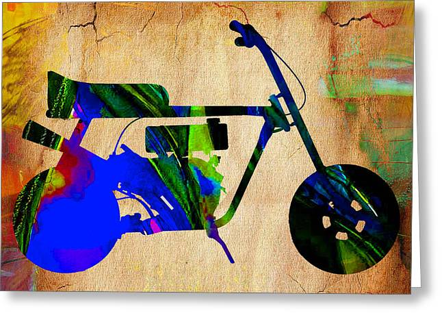 Mini Bike Greeting Card by Marvin Blaine