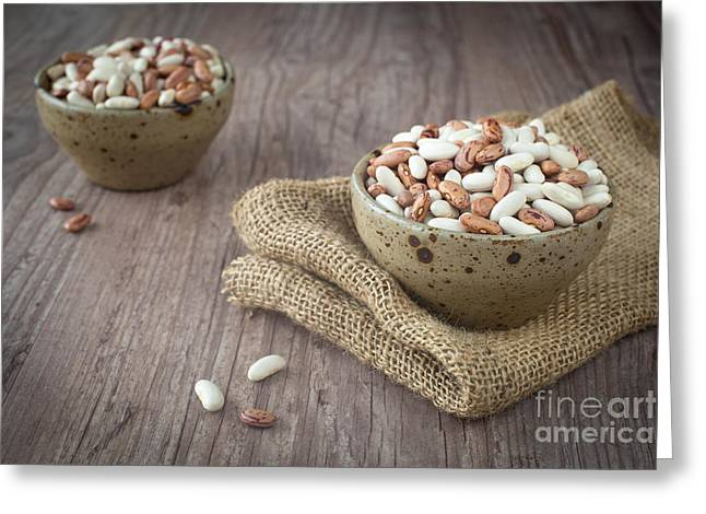 Wooden Bowl Greeting Cards - Mixed beans Greeting Card by Sabino Parente