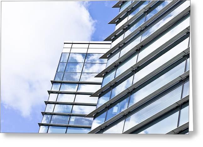 Modern building Greeting Card by Tom Gowanlock