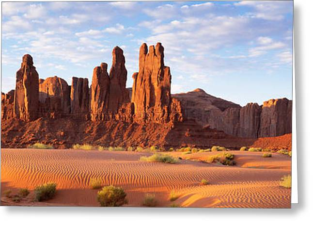Navaho Greeting Cards - Monument Valley Arizona Usa Greeting Card by Panoramic Images