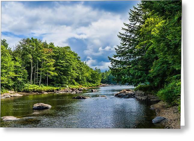 Adirondack Mountains Greeting Cards - Moose River In The Adirondack Greeting Card by Panoramic Images