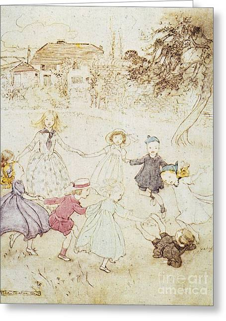 Nursery Rhyme Greeting Cards - Mother Goose, 1913 Greeting Card by Granger