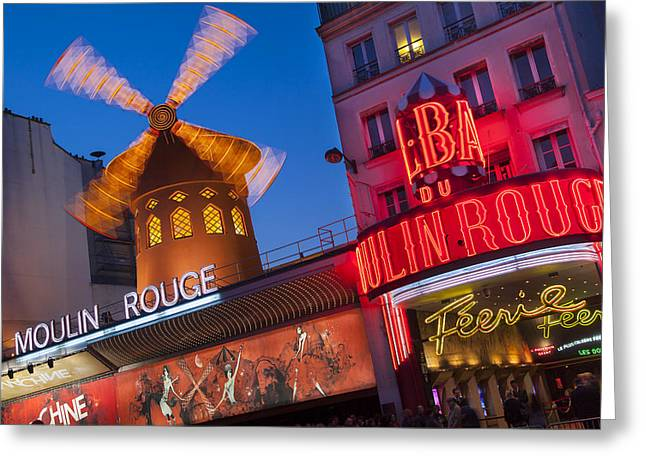 Can Can Greeting Cards - Moulin Rouge Greeting Card by Brian Jannsen