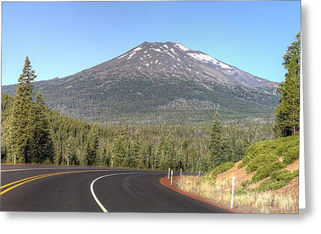 Sunriver Greeting Cards - Mount Bachelor Greeting Card by Twenty Two North Photography