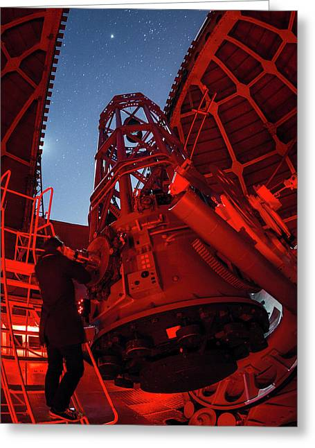 Mount Wilson Observatory Greeting Card by Babak Tafreshi