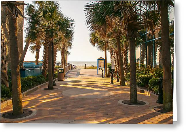 On The Beach Greeting Cards - Myrtle Beach South Carolina Greeting Card by Alexandr Grichenko