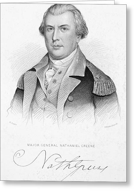 Autograph Greeting Cards - Nathanael Greene Greeting Card by Granger