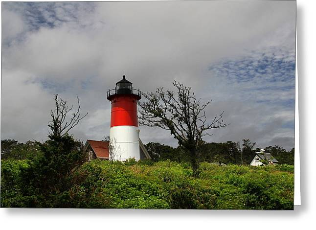 Cape Cod Mass Greeting Cards - Nauset Lighthouse Greeting Card by Andrea Galiffi