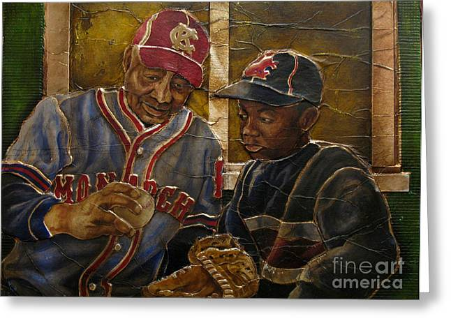 Negro Leagues Paintings Greeting Cards - Negro League Story Greeting Card by Anthony High