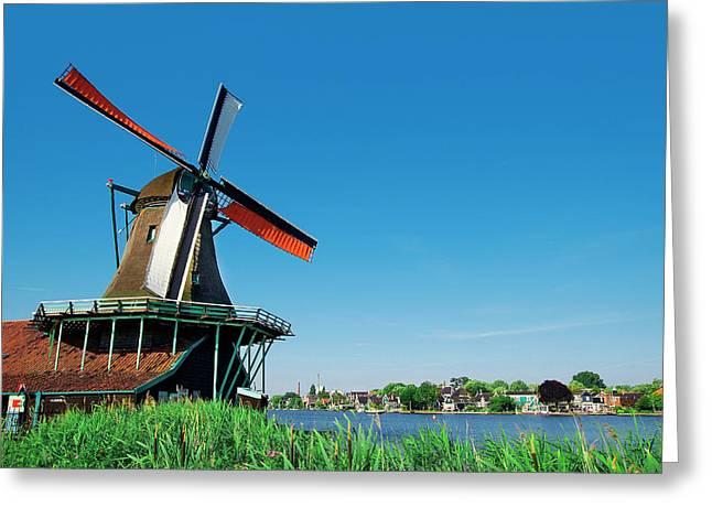 Netherlands, North Holland, Zaanstad Greeting Card by Miva Stock