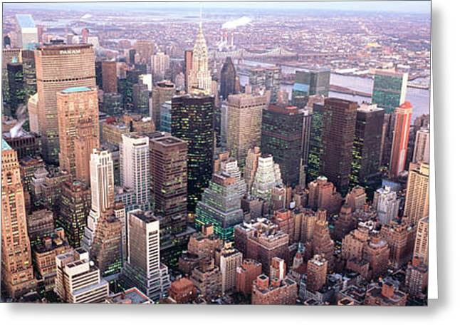 Midtown Greeting Cards - New York Ny Usa Greeting Card by Panoramic Images