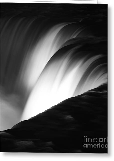 Elite Image Photography By Chad Mcdermott Greeting Cards - Niagara Falls New York in Black and White Greeting Card by ELITE IMAGE photography By Chad McDermott