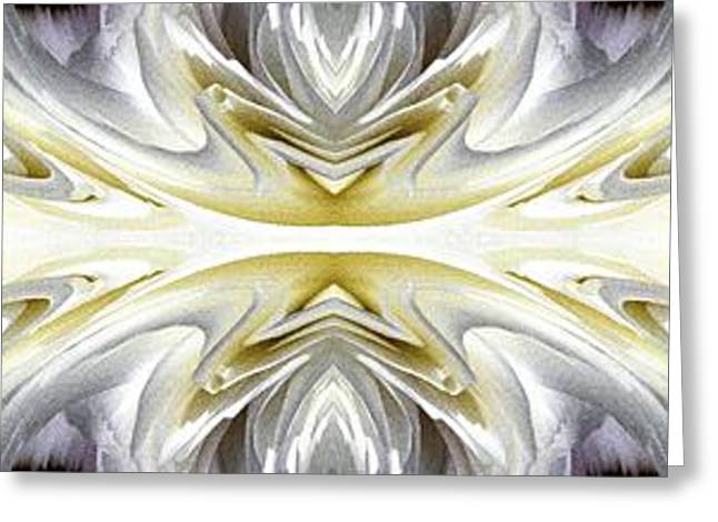 Geometric Artwork Greeting Cards - Nonstop Apple Blossom Abstract Greeting Card by J McCombie