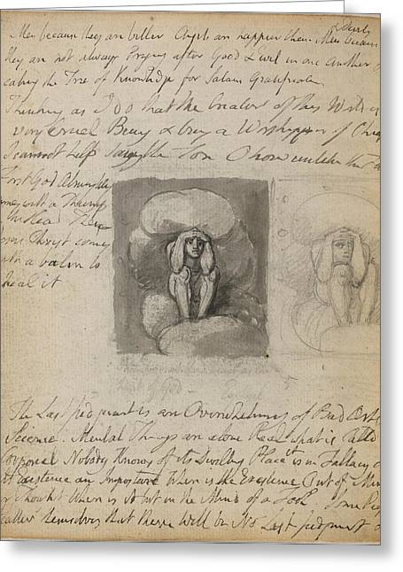 Notebook Of William Blake Greeting Card by British Library