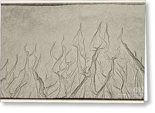 Owner Greeting Cards - Ocean Sand Art Hearts Greeting Card by Iris Richardson