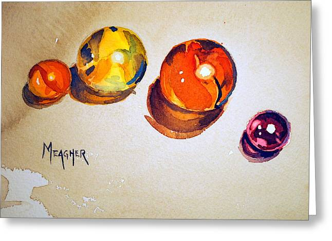 Marble Eye Greeting Cards - 4 Of A Kind Greeting Card by Spencer Meagher