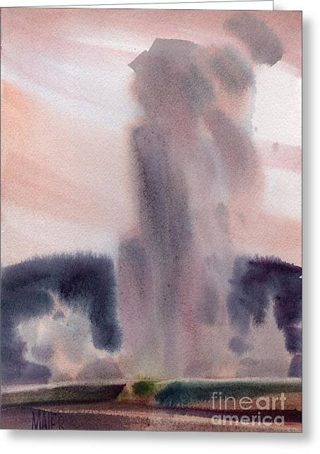 Old Faithful Greeting Card by Donald Maier
