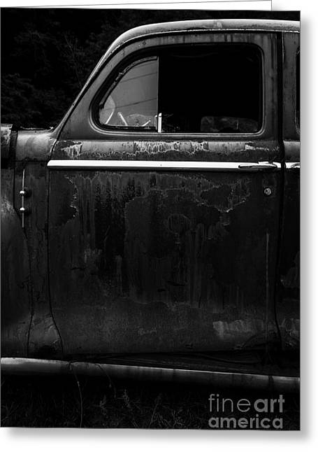 Abandoned Places Greeting Cards - Old Junker Car Greeting Card by Edward Fielding