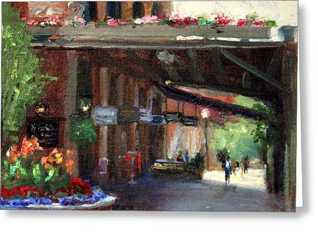 Canna Greeting Cards - Old Market-12th and Howard Greeting Card by Jacki Newell