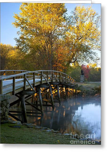 Concord Greeting Cards - Old North Bridge Concord Greeting Card by Brian Jannsen