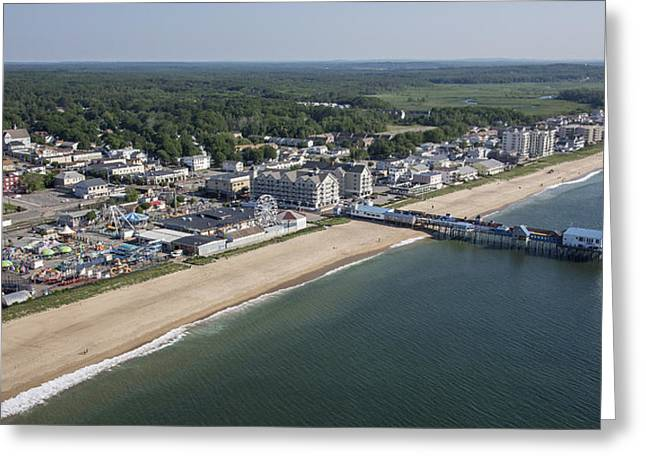 Oblique Greeting Cards - Old Orchard Beach, Maine Greeting Card by Dave Cleaveland