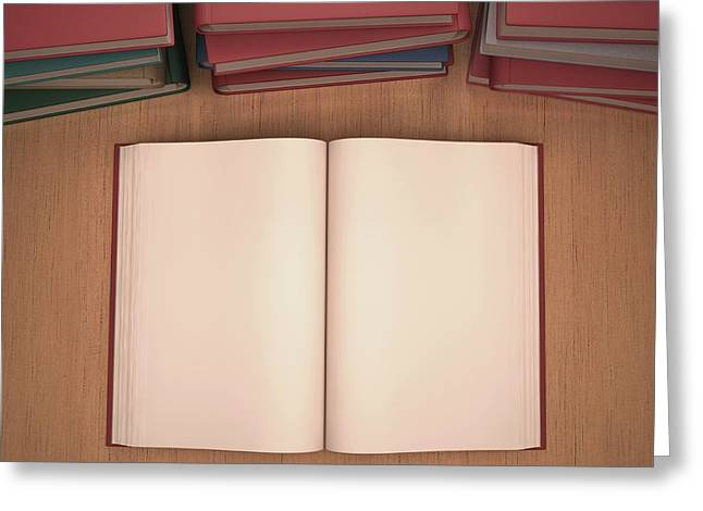 Open Book Greeting Card by Ktsdesign